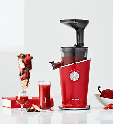 Wolnoobrotowa wyciskarka do soków Hurom Easy H100S czerwona w kuchni