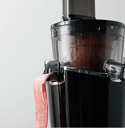 Wolnoobrotowa wyciskarka do soków Hurom Easy H100S robienie lodów